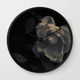 FLOWER • Rose Photography #1 •  Black and White Wall Clock