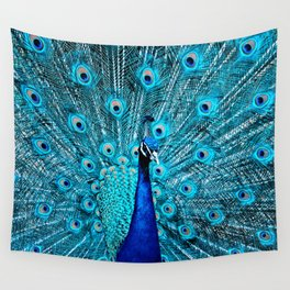 Peacock  Blue 11 Wall Tapestry