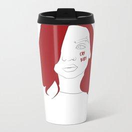 Cry baby vector portrait Metal Travel Mug