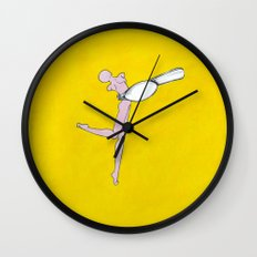 Yellow Spoon Wall Clock
