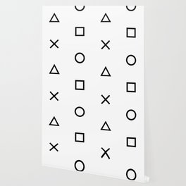 Playstation Controller Pattern (Black on White) Wallpaper