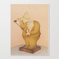 selfie Canvas Prints featuring Selfie  by Steve Bonello