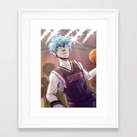 kuroko Framed Art Prints featuring Kuroko by Tikkilanka
