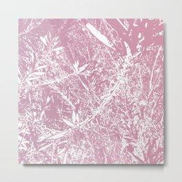 Pink Floral Art Metal Print