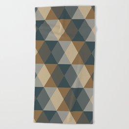 Caffeination Geometric Hexagonal Repeat Pattern Beach Towel