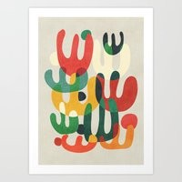 cactus Art Prints featuring Cactus by Picomodi