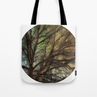 psychadelic Tote Bags featuring Psychadelic Tree by Jeanne Hollington