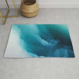 """Inner Calm"" Turquoise Modern Contemporary Abstract Rug"
