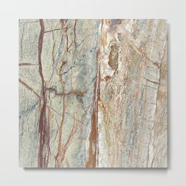 Brown onyx home decor marble texture photo print Metal Print