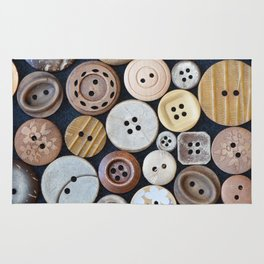 Wooden Buttons Rug
