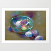 eggs Art Prints featuring Eggs by Adriangiulianipastels