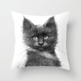 Black Kitten SK135 Throw Pillow