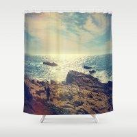 chile Shower Curtains featuring Quintero, Chile. by Viviana Gonzalez