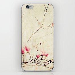 Spring Botanical - Tulip Tree, Magnolia × soulangeana iPhone Skin