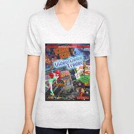 Video Game Trader #27 Cover Design Unisex V-Neck