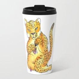 jaguar painting nails transparent Travel Mug