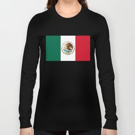 Flag of Mexico - alt version with seal insert Long Sleeve T-shirt