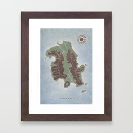 Lost Island Framed Art Print