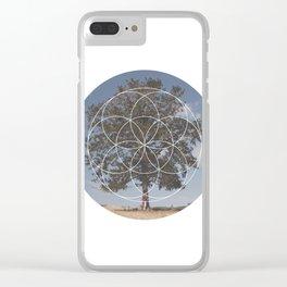 Free Tree Hugs - Geometric Photography Clear iPhone Case