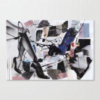 depeche mode Canvas Prints featuring MODE by jonquillem
