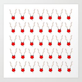 Rudolf the red nose reindeer Art Print