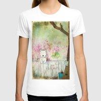 westie T-shirts featuring Best Friends Westie Squirrel ~ West Highland White Terrier by Ginkelmier