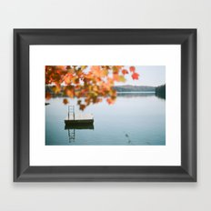 lake side view  Framed Art Print