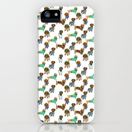 Sausage Dogs - Dachshunds with Jumpers iPhone Case
