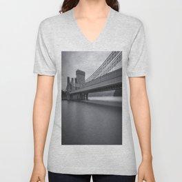 Conwy Suspension Bridge Unisex V-Neck