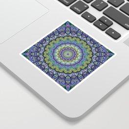 Purple n' Green Machine - Mandala Art Sticker