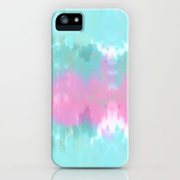 Summer Vibes Tie Dye in Cotton Candy iPhone Case