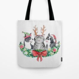 Happy Pawlidays Festive Trio Tote Bag