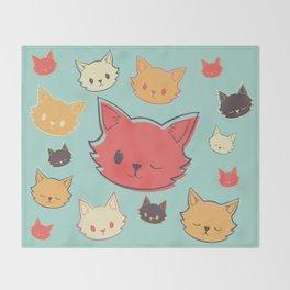 Kitty Wink Throw Blanket