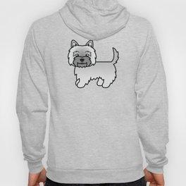 Cute Gray Cairn Terrier Dog Cartoon Illustration Hoody