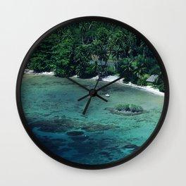 Tahiti White Sand Beach Romantic Getaway Wall Clock