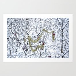 Snowfall at Brickworks on Christmas Day, 2020. LXXVIII Art Print