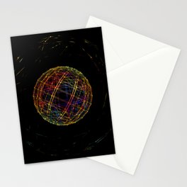 Neon String Ball Stationery Cards