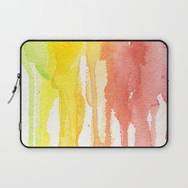 Rainbow Watercolor Texture Pattern Abstract Laptop Sleeve