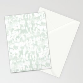 Inverse Ice Dye Green Tea Stationery Cards