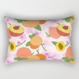 Peach Blossom Floral Rectangular Pillow