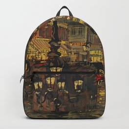 A Lovely Night in Paris, Portrait of Two women amid city lights painting by Konstantin Korovin Backpack