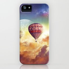clouds,sky and ballons iPhone Case