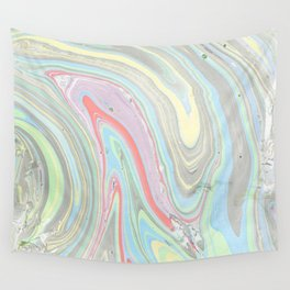 Pink coral mint green aqua watercolor abstract marble pattern Wall Tapestry