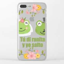 Frogs in love Clear iPhone Case