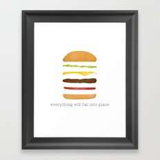 Everything Will Fall into Place Framed Art Print