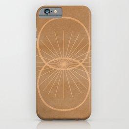 Circles making a start - minimal line art iPhone Case