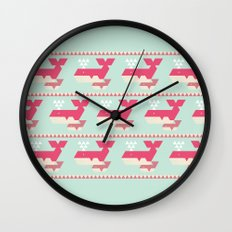 Triangwhales Wall Clock