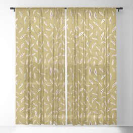 Pretty tossed leaves pattern. Sheer Curtain