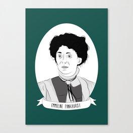 Emmeline Pankhurst Illustrated Portrait Canvas Print