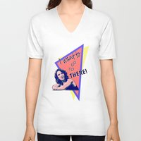 "30 rock V-neck T-shirts featuring ""I want to go to there!"" (30 Rock) by Galit Zeierman"
